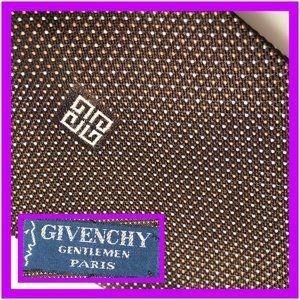 Givenchy dots brown tan white